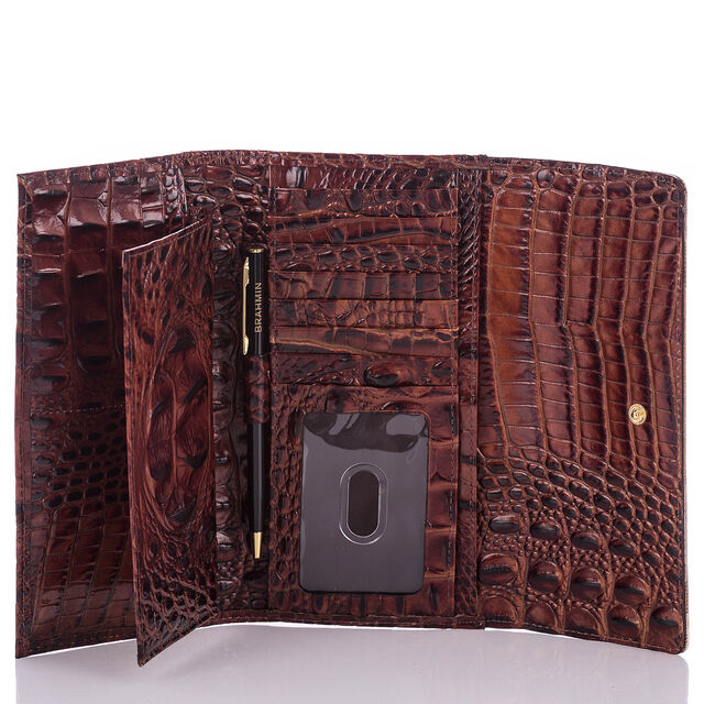 Soft Checkbook Wallet Andesite Lucino, Andesite, hi-res