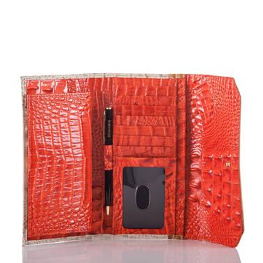 Soft Checkbook Wallet Amaryllis Cotinga Interior
