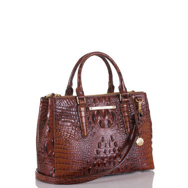 Small Lincoln Satchel Pecan Melbourne Side