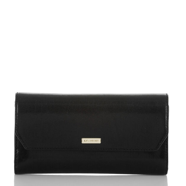Soft Checkbook Wallet Black Topsail, Black, hi-res