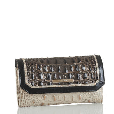 Soft Checkbook Wallet Graphite Crestview Side