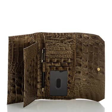 Soft Checkbook Wallet Oak Primrose Interior