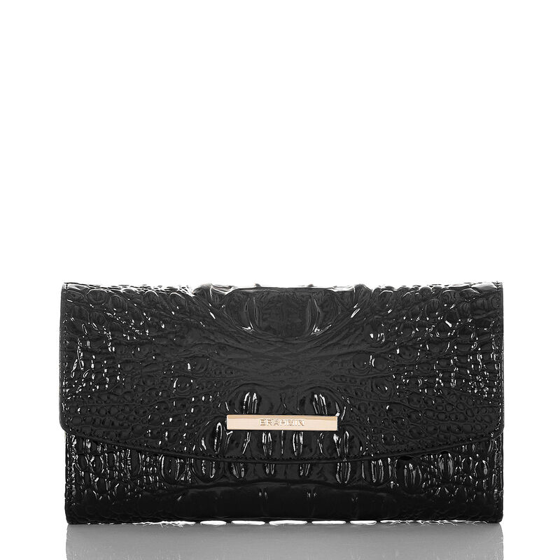 Modern Checkbook Wallet Black Melbourne
