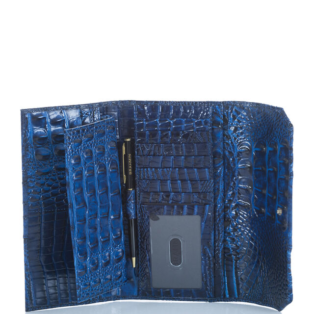 Soft Checkbook Wallet Sapphire Melbourne, Sapphire, hi-res