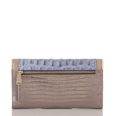 Soft Checkbook Wallet Periwinkle Fontainebleau Back