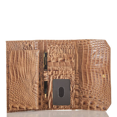 Soft Checkbook Wallet Tobacco Tesoro Interior