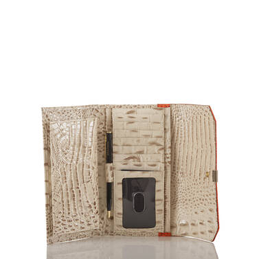 Soft Checkbook Wallet Vanilla Toucan Interior