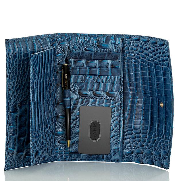 Modern Checkbook Wallet Bluebonnet Melbourne