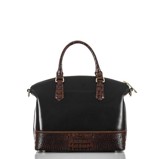 Duxbury Satchel Black Tuscan Tri-Texture, Black, hi-res