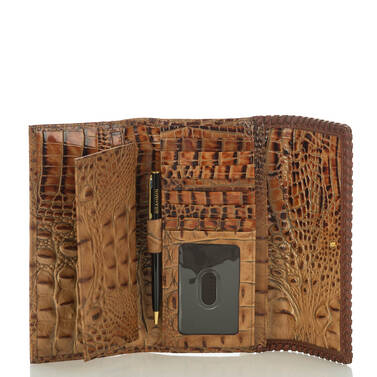 Soft Checkbook Wallet Toasted Almond Dalton Interior