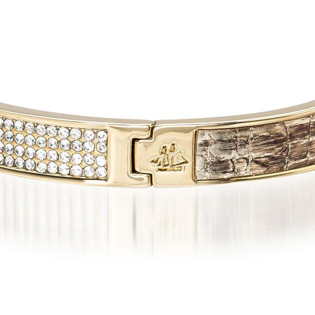 Split Crystal Bangle Gold Fairhaven