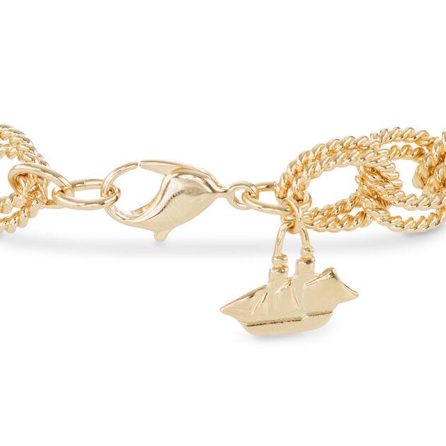 Double Bead Chain Bracelet Light Gold Providence