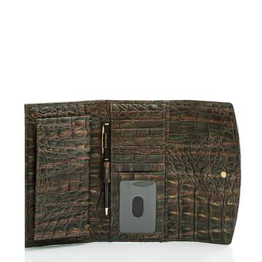 Modern Checkbook Wallet Moss Rowan Interior