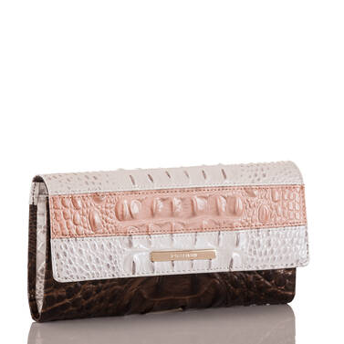 Soft Checkbook Wallet Toasted Macaroon Cassini Side