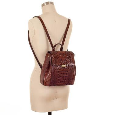 Margo Backpack Pecan Melbourne On Mannequin