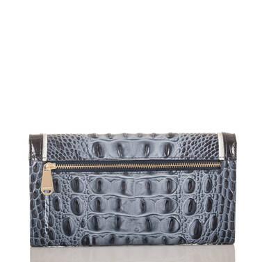 Soft Checkbook Wallet Denim Tri-Texture Back
