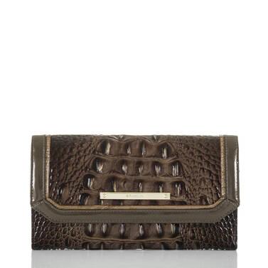 Soft Checkbook Wallet Brunello Vestige Front