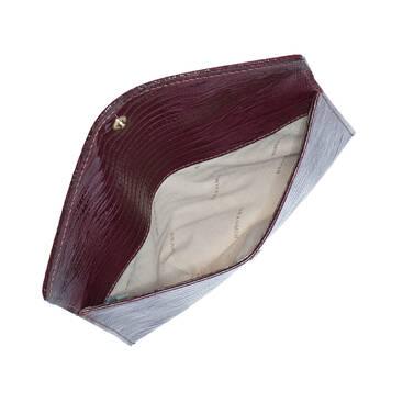 Envelope Clutch Plum Fashion Lizard Interior