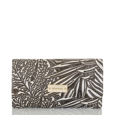 Soft Checkbook Wallet Silver Loreto Front