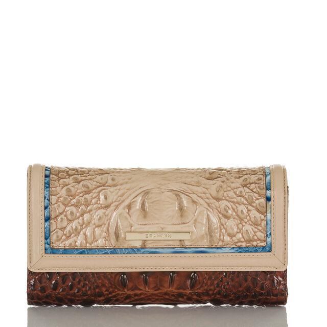 Soft Checkbook Wallet Sand Santana, Sand, hi-res