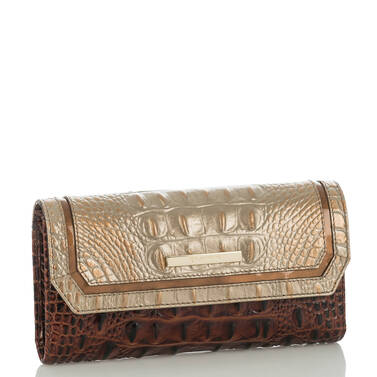 Soft Checkbook Wallet Rose Gold Provence Side