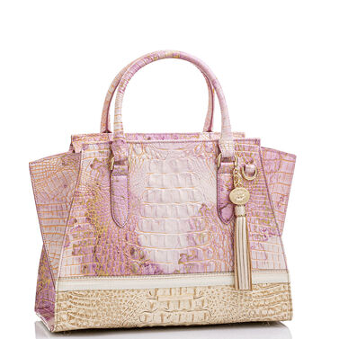 Priscilla Satchel Lilac Whimsy Front