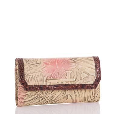 Soft Checkbook Wallet Pecan Amina Side