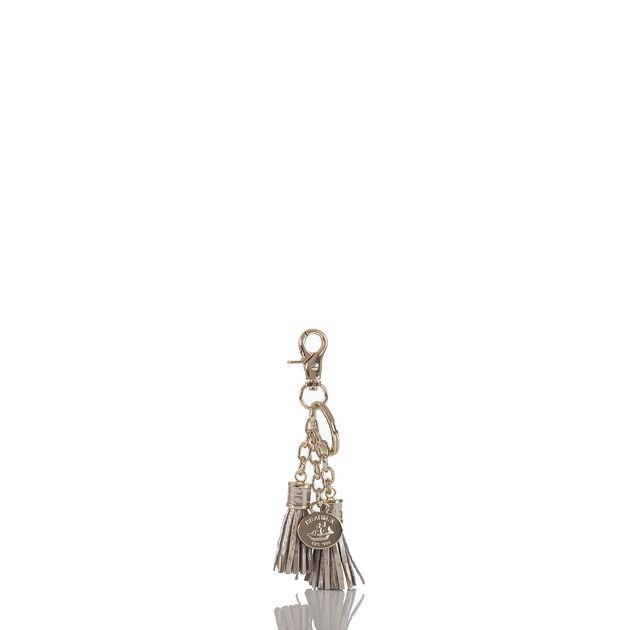 Tassel Key Ring Silver Birch Melbourne, Silver Birch, hi-res