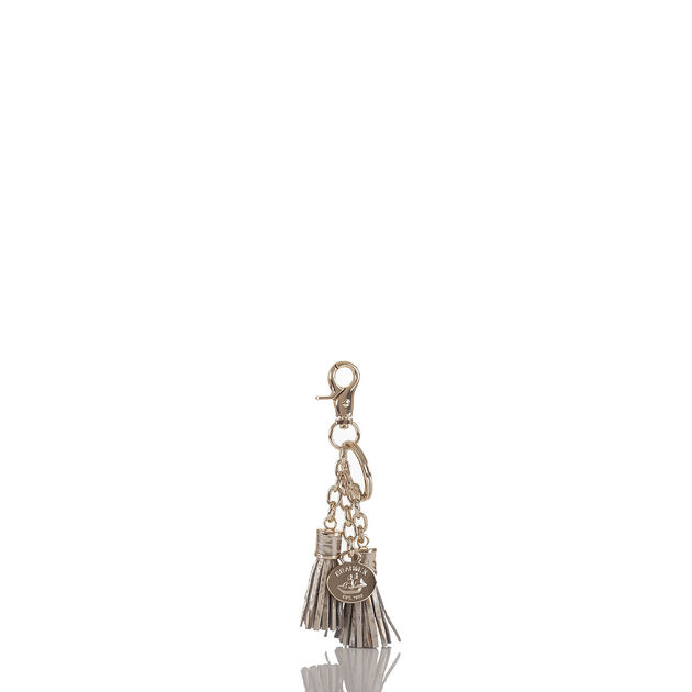 Tassel Key Ring Silver Birch Melbourne, Silver Birch, hi-res