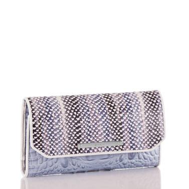 Soft Checkbook Wallet Periwinkle Monroe Side