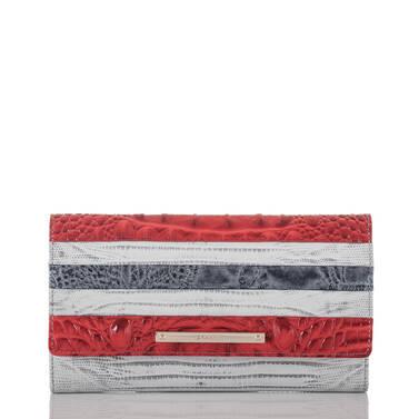 Soft Checkbook Wallet Bluestone Habanera Front