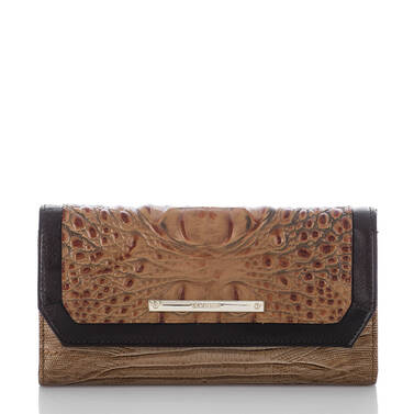Soft Checkbook Wallet Toasted Almond Bengal Front