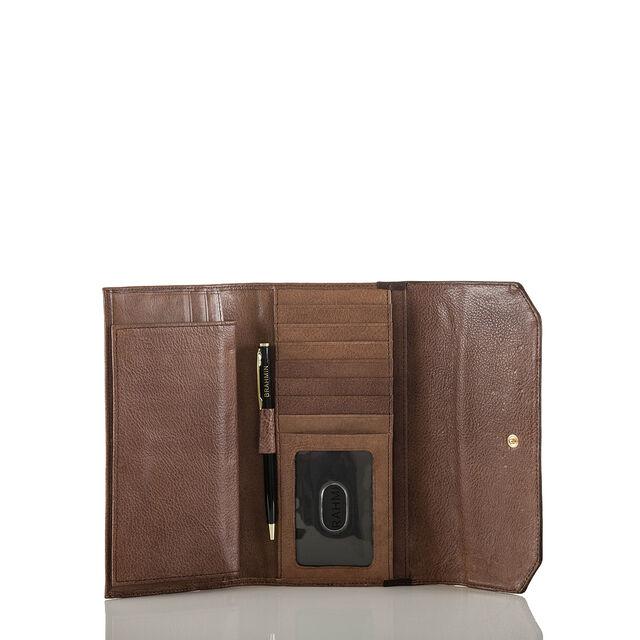 Soft Checkbook Wallet Brown Barrow, Brown, hi-res