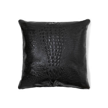 18x18 Pillow Case Black Melbourne Front Pillow Insert Not Included