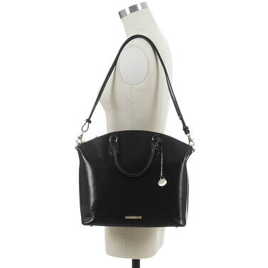 Large Duxbury Satchel Black Topsail On Mannequin