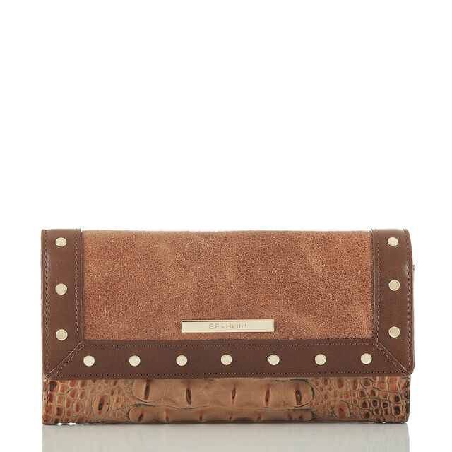 Soft Checkbook Wallet Brown Silva, Brown, hi-res