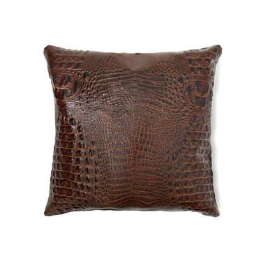18x18 Pillow Case Pecan Melbourne Side