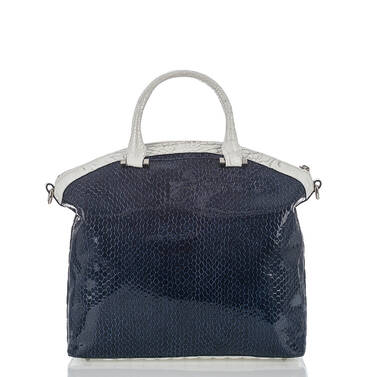 Large Duxbury Satchel Blue Skyline Back