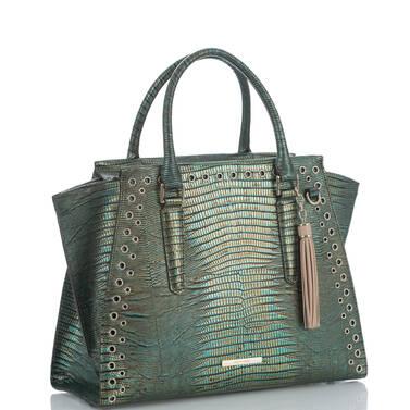 Priscilla Satchel Emerald Moa Side