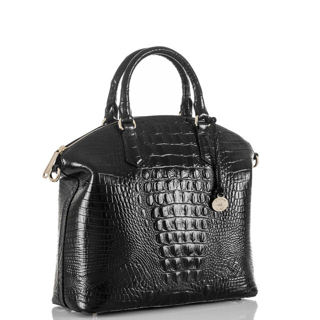 Large Duxbury Satchel Black Melbourne, Black, hi-res
