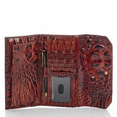 Soft Checkbook Wallet Pecan Eastwood Interior