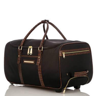 CarryOn Wheeled Duffle Black Travel Side