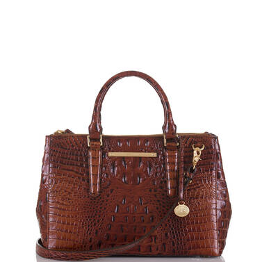 Small Lincoln Satchel Pecan Melbourne Front
