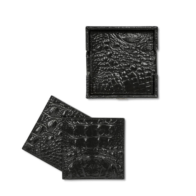Brahmin Coasters Black Melbourne, Black, hi-res