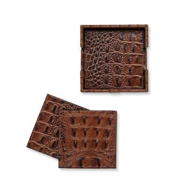 Brahmin Coasters Pecan Melbourne Front