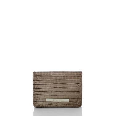 Mini Key Wallet Sable Fashion Lizard Front