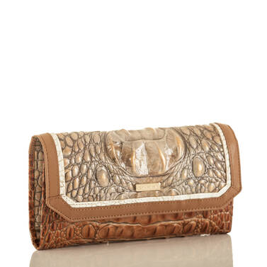 Soft Checkbook Wallet Riesling Tri-Texture Side