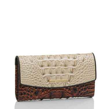 Modern Checkbook Wallet Linen Osmia Side