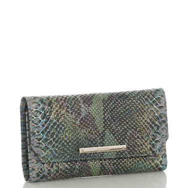 Soft Checkbook Wallet Moonstone Seville Side