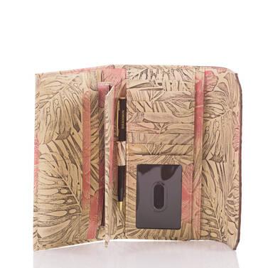 Soft Checkbook Wallet Pecan Amina Interior